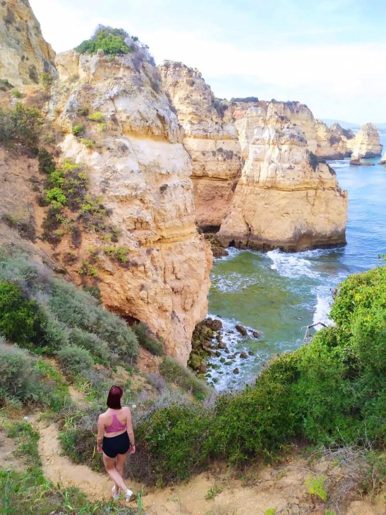 The Lagos coastline in Portugal