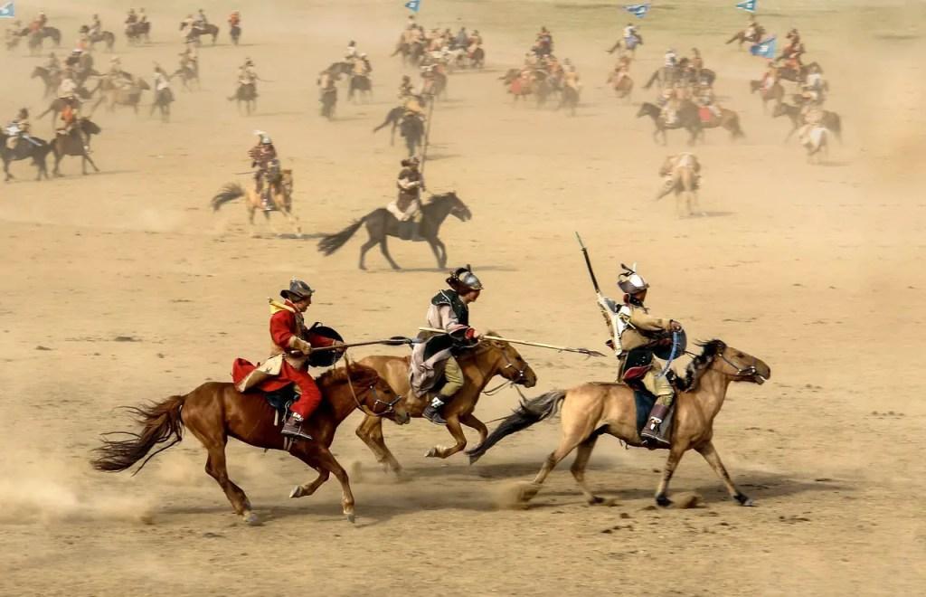 Horse festival in Mongolia