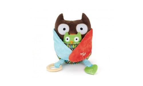 Owl Plush Skip Hop Hug and Hide Activity Toy