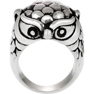 Brinley Co. Owl Ring in Sterling Silver