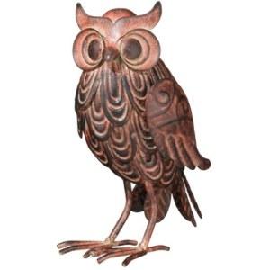 Wise Hoot Owl Tabletop Figurine 7 Inch Metal