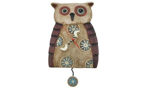 Big Hoot Owl Pendulum Clock