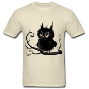 Stylish Grumpy Fogy Owl T-Shirt