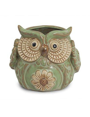 Dahlia Vintage Owl Planter / Vase Ceramic