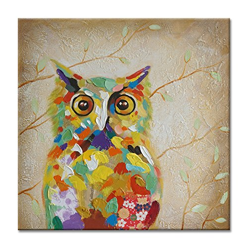 Stretched Canvas Print of a Colorful Owl Art