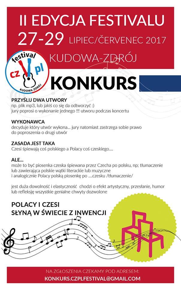 Konkurs muzyczny - na festiwalu CZ-PL w Kudowie-Zdroju