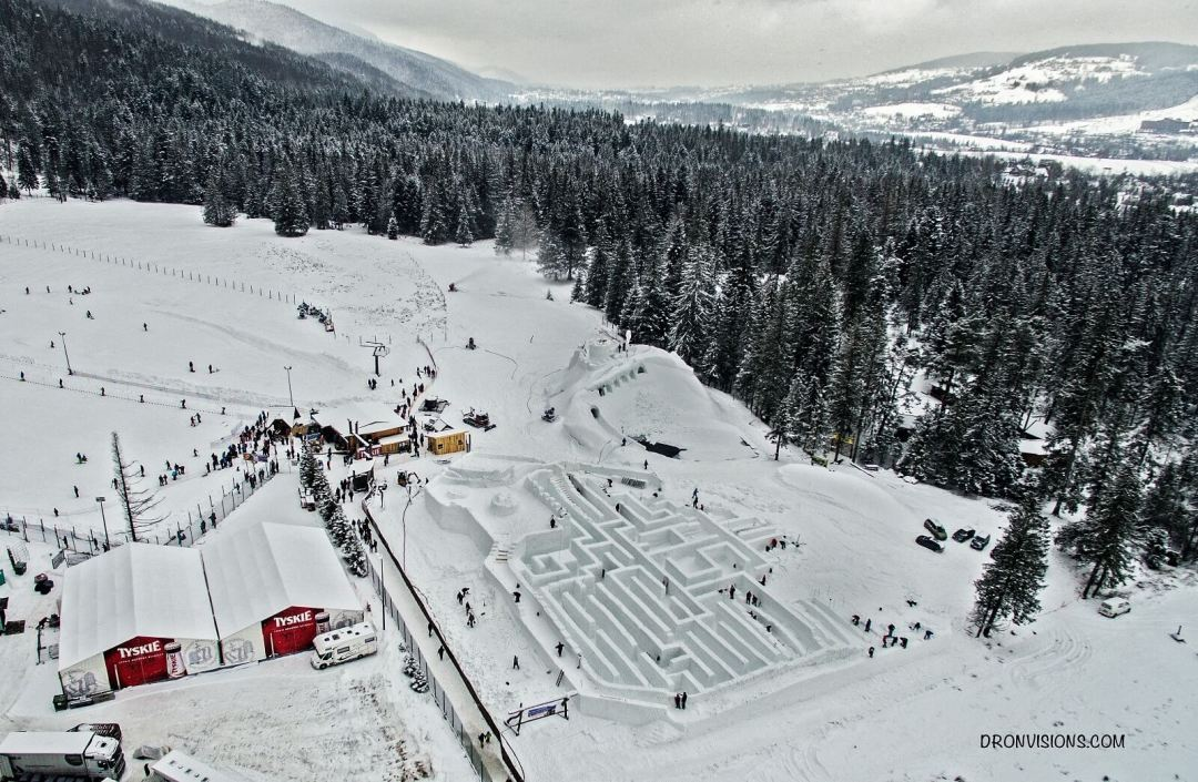 największy labirynt śnieżny na świecie_Zakopane