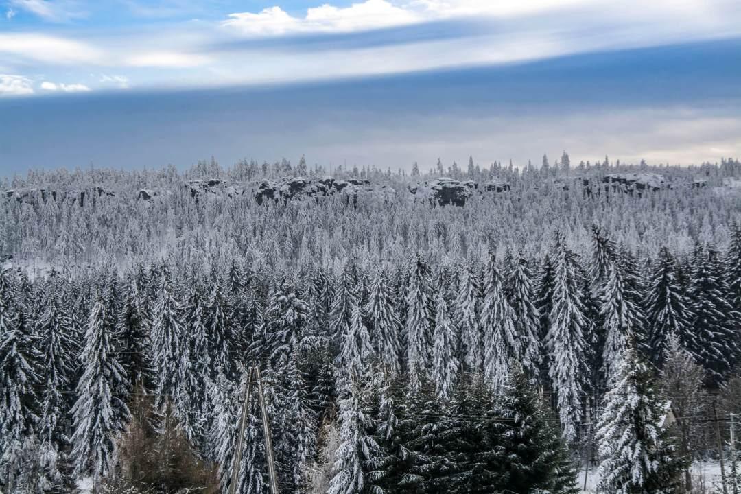 Szczeliniec zimą