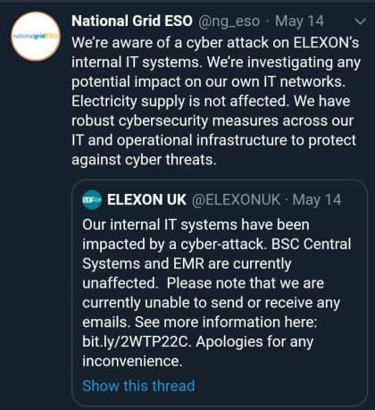 Elexon tweet