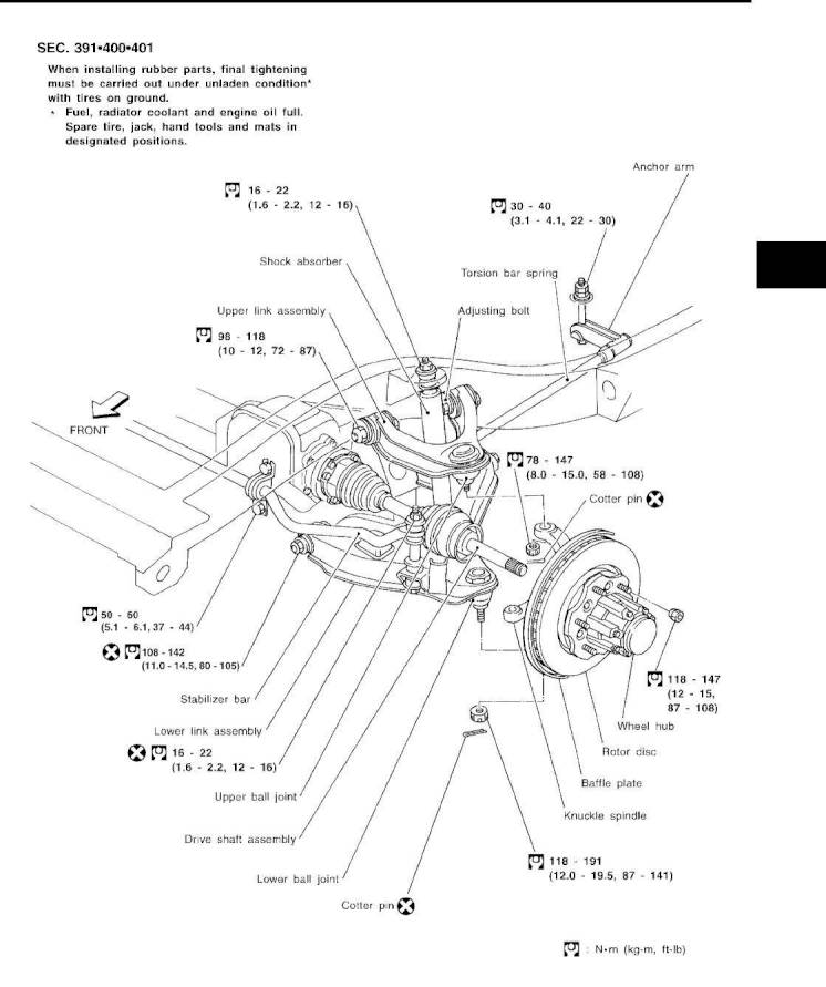 Front suspension assembly