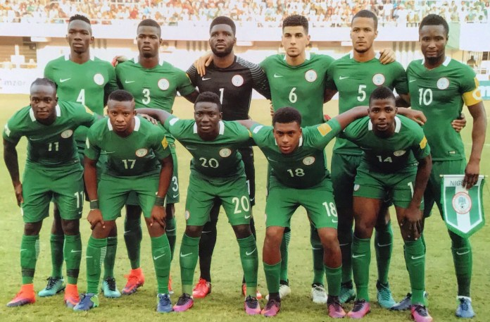c5b9039737e Rohr Inspects Super Eagles 2017 Jersey, Wants Nike To Change The Colour