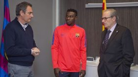 Image result for Bassey denies return to Enyimba after Barcelona loan deal