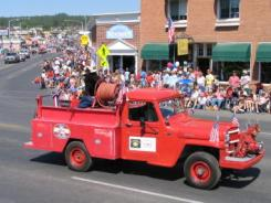 pagosa springs parade fire truck