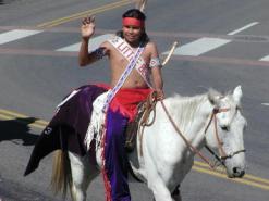 pagosa springs parade native on horse
