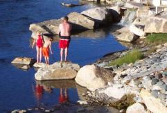 Pagosa springs on the river