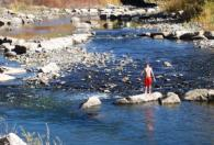 Pagosa Springs in Town on the river
