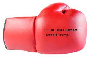 Punching glove.