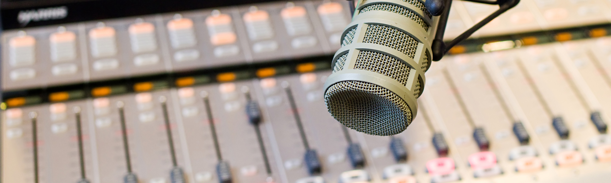Microphone Mix Board Banner
