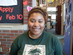 """""""If I had to choose I would vote for Santorum because Obama would definitely win."""" -Nola Johnson '14"""