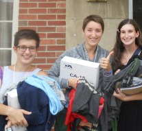 Students give and take at the free store