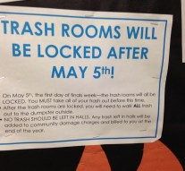 Trash room policy misses root problems
