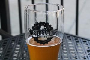 Beer from Restoration Brew Worx. Photo by Sara Hollabaugh