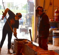 Students fired up for OWU iron pour