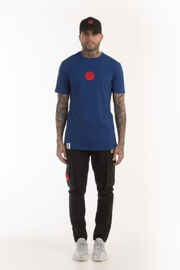 BRIX SS TEE 614 blue once we were warriors