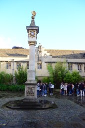 The Pelican Sundial in the sunshine