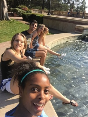 Cooling off at the Shapiro Fountain