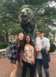 Group of students on Columbia University.