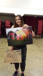 The artist and her art!