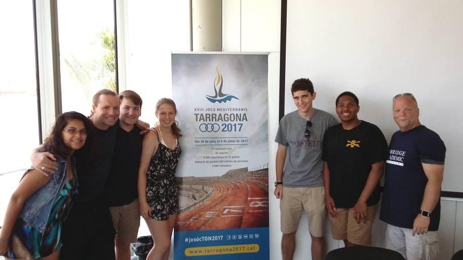 The Sports Business class at the offices of the Mediterranean Games