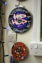 Hip Hop Clock Made From Donated CD's