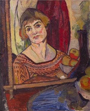 Self portrait by Suzanne Valadon, born 23 September 1865