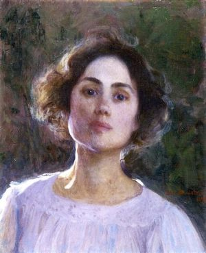 Self-portrait, Elin Danielson-Gambogi, born 3 September 1861