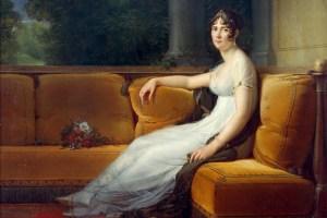 Josephine at Malmaison', 1800. Josephine Bonaparte (Beauharnais) 1763-1814. Francis Pascal Simon Gerard (1770-1837) French painter. Oil on canvas.