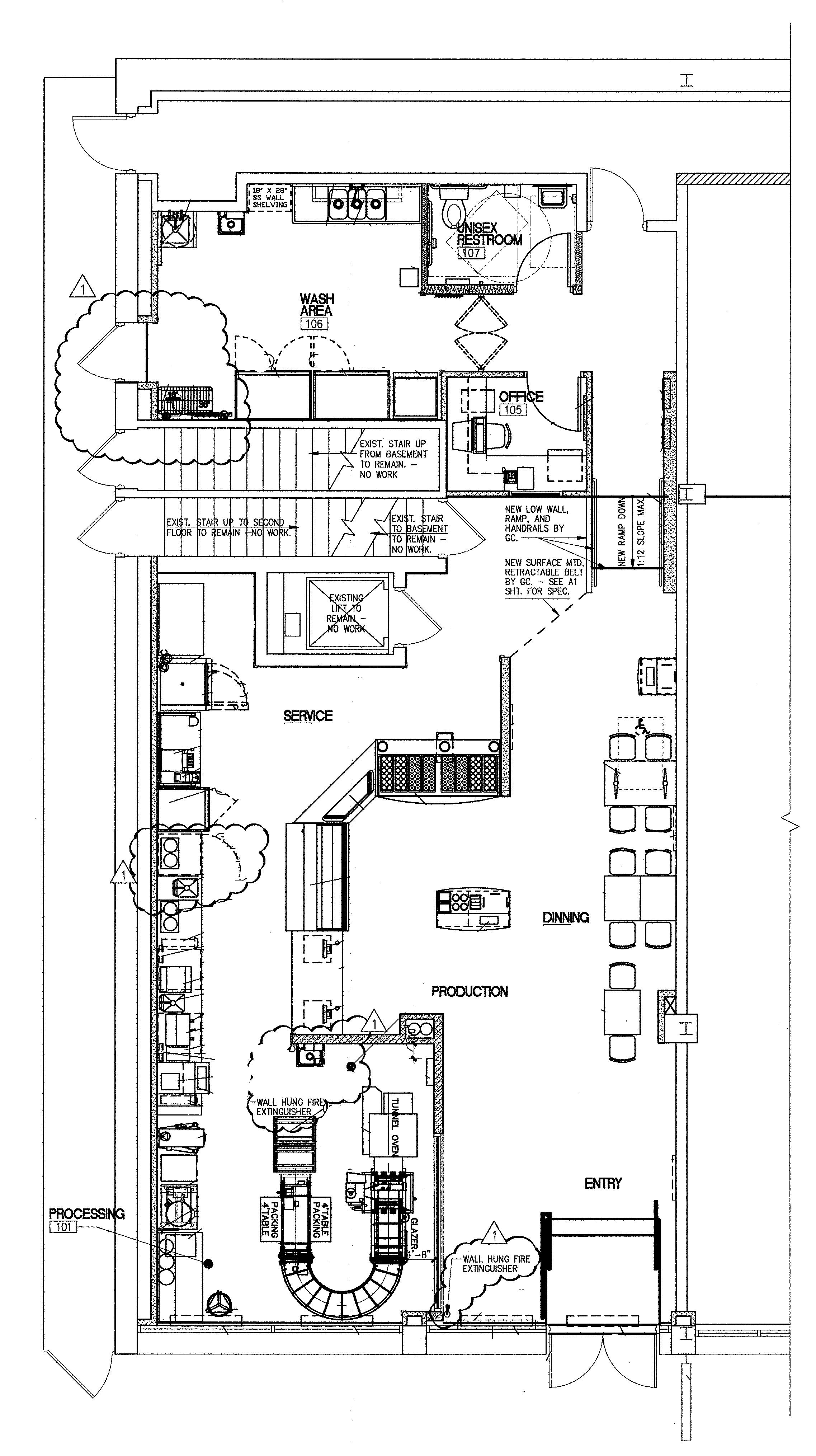 Floor Plan For Krispy Kreme Chestnut Street
