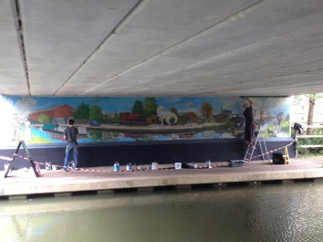 Oxford Canal Mural Painting Days (110)