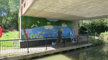 Oxford Canal Mural Painting Days (56)