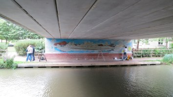 Oxford Canal Mural Painting Days (8)