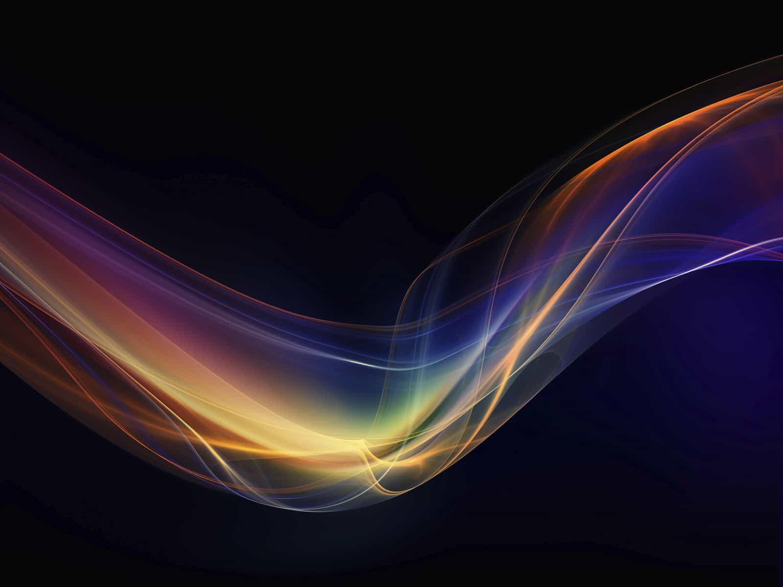 Abstract Light Waves Coloured