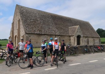 13th century tithe barn at Great Coxswell