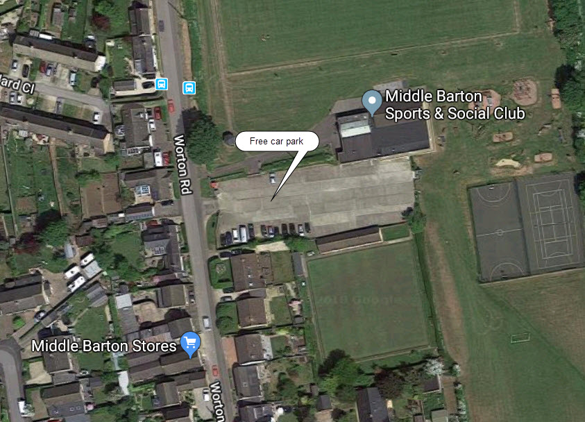 middle barton car park