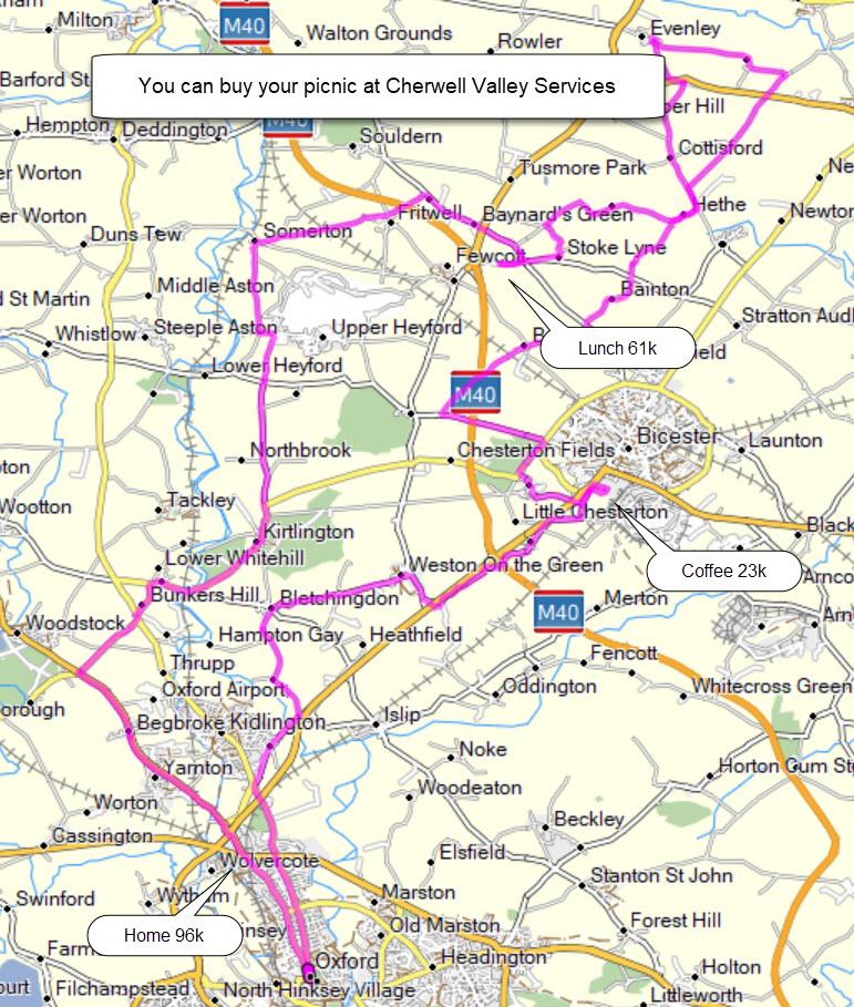 bicester cherwell valley services 96k