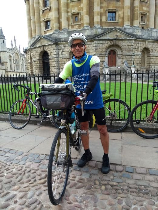 We turned up early to see Iraj off as he set off on his ride to Tehran in aid of Mind