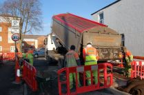 Work starts Earl Street road hump