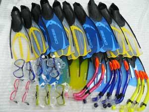 Donated snorkeling kit