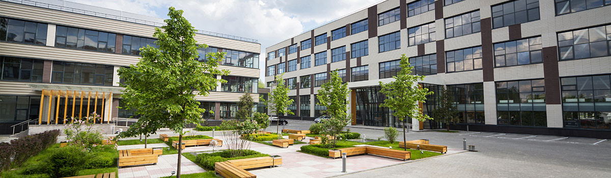 Corporate offices in a landscaped business park