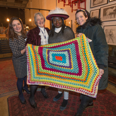High Sheriff Jane Cranston shares her hat with Kaddy Touray from Oxford Against Cutting